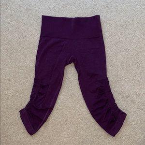 Purple sinched cropped lululemon leggings